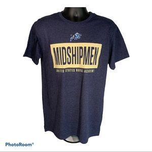🆕 United States Naval Academy Midshipmen Shirt Lg